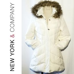 🆕️NY & CO Crisp White Down Filled Puffer Jacket